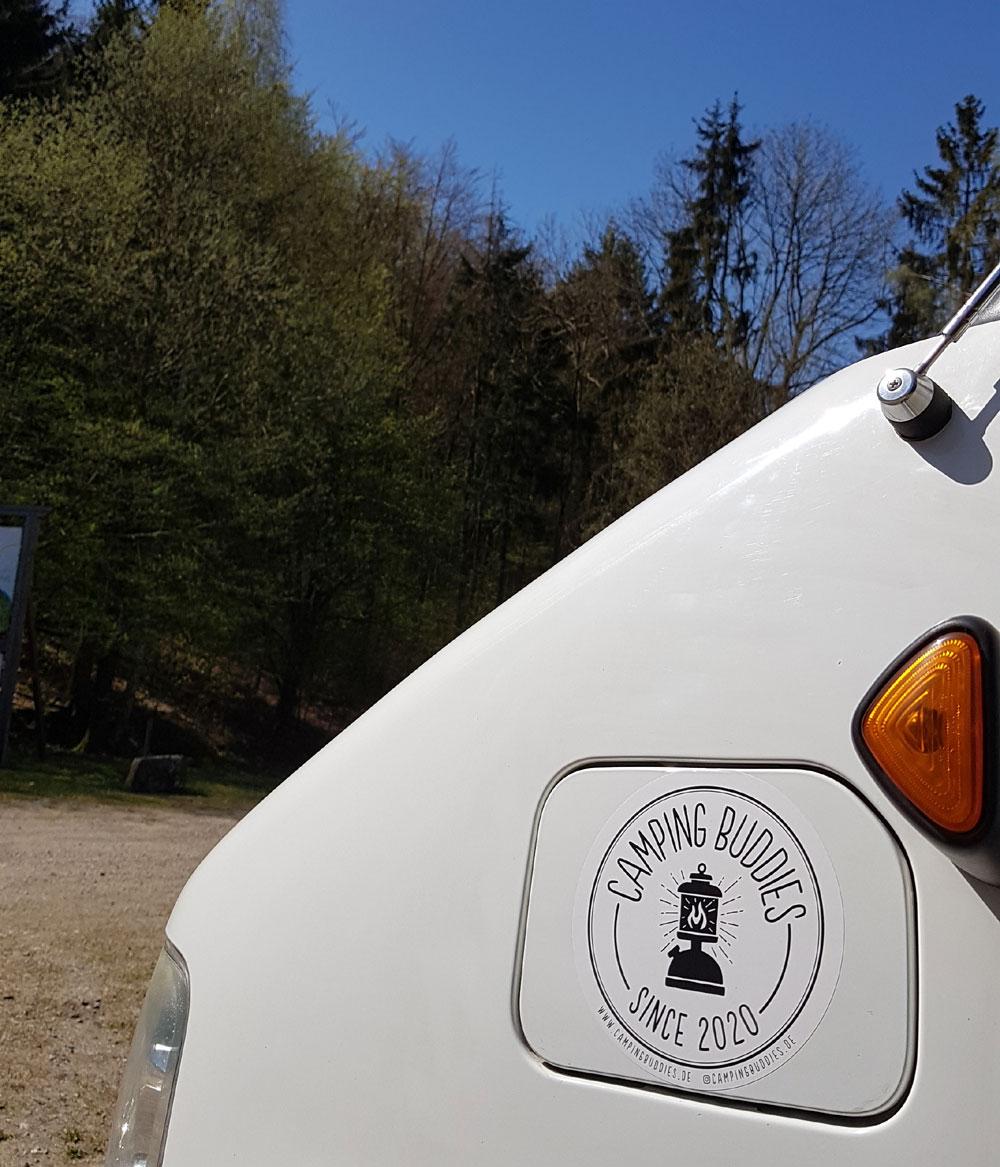 , Sticker: Für echte CampingBuddies