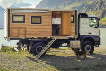 , Wohnkabinen von BUMO: Auf Achse in der Blockhütte