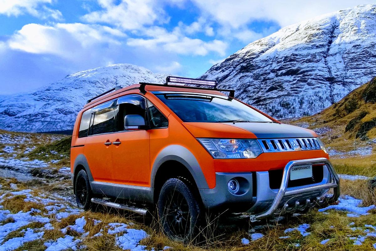 Mitsubishi Camper, Mitsubishi Delica Campervan D:5 Terrain: Cooles Konzept aus Schottland