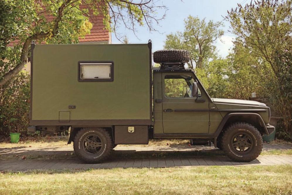 Wolf als Camper, Kompakter Allrad-Camper auf Mercedes-Basis: Momo der Sani-Wolf