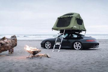 Porsche Dachzelt, Dachzelt-Nomade: Mit dem Porsche zum Camping? Aber ja!