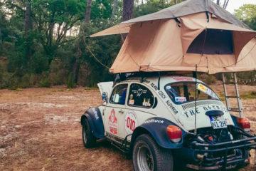 VW Käfer Dachzelt, Auf Reisen: Mit Dachzelt unterwegs im 1972er Rallye-Käfer