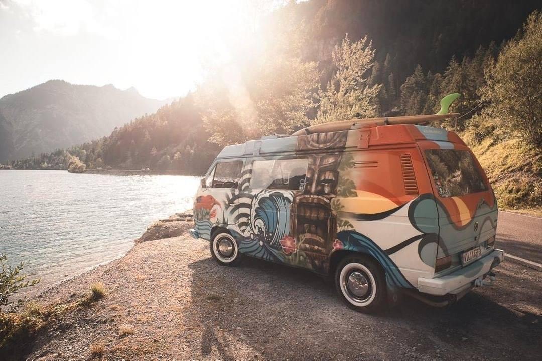 VW T3 Graffiti, VW T3 Campervan von Matt: Tiki-Style vom Graffiti-Künstler