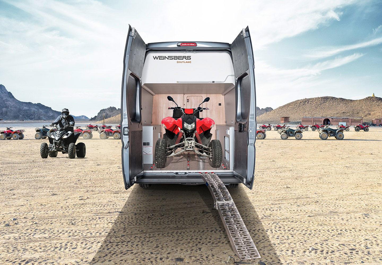 , Weinsberg CaraBus 630 MEG OUTLAW: Van mit gewaltig Stauraum