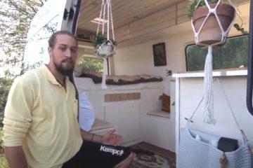 , Video-Roomtour: Selbst ausgebauter VW Crafter-Camper von Jim & Ireen