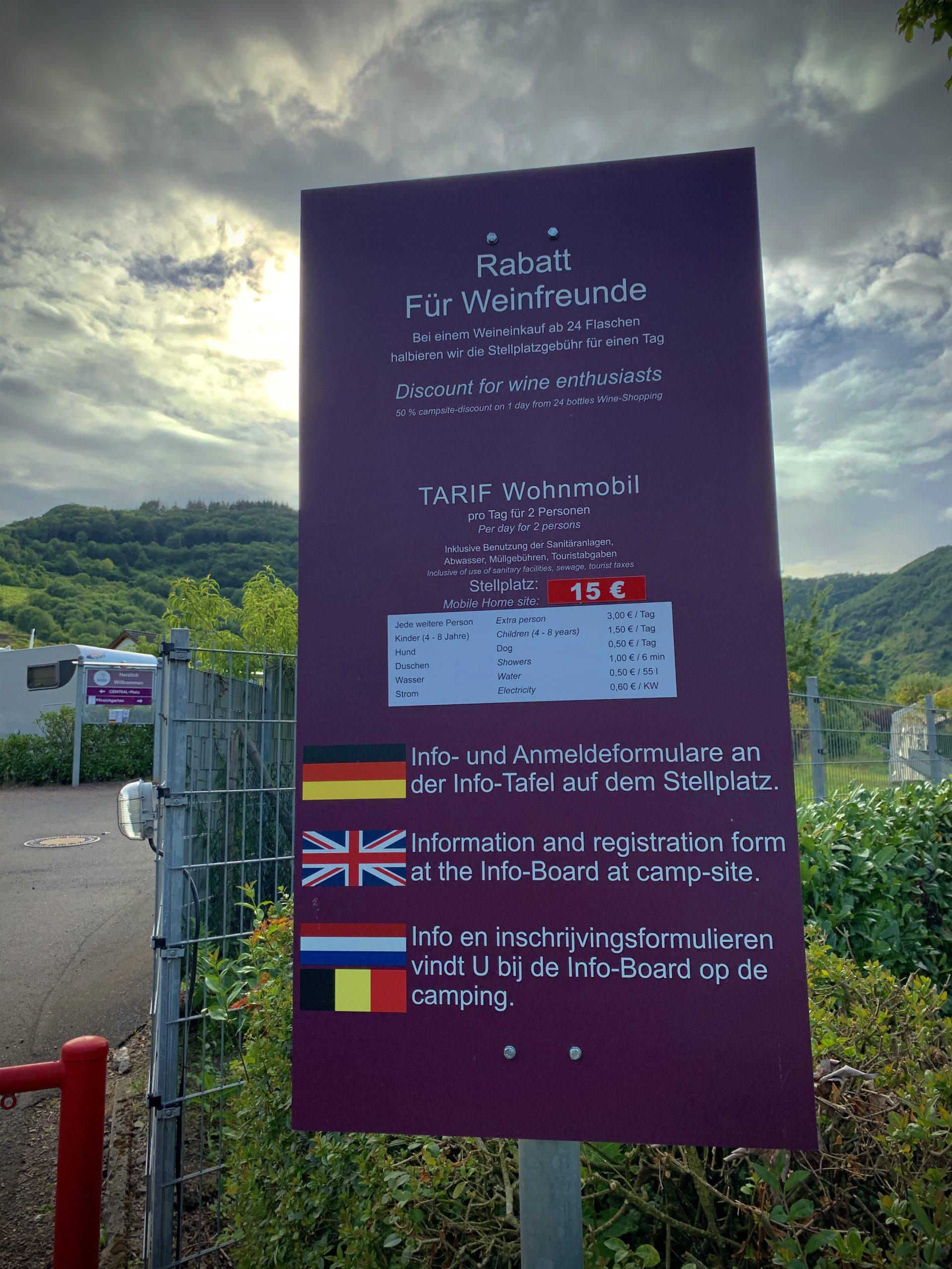 Wohnmobilstellplatz oster-franzen, Wohnmobilgarten Oster-Franzen: Stellplatz mit Rabatt für Weintrinker